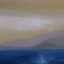 "Greek Islands III, 8"" X 10"", Oil on Belgian Linen"