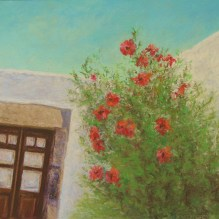 "Greek Island Churches III (Patmos), 11"" X 15"", Pastel on Paper. Status: SOLD"