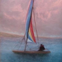 "Sunset in Jamaica, 18 X 24"", Pastel on Paper. Status: Available"