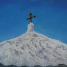"Greek Island Churches IV 8"" X 10"" Pastel on Paper"