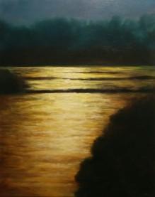 "Cliffside, 16"" X 20"", Oil on Cradled Panel"