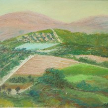 "Cretan Hills, Crete Island. 11"" X 15"". Pastel on Paper. Status: Available"