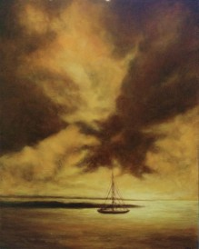 """Sunset In Jamaica I, 16""""X20"""", Oil on Canvas"""
