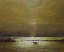 "Stillness, 24""X30"", Oil on Cradled Panel"