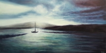 """Tranquility,18""""X36"""", Oil on Cradled Panel"""