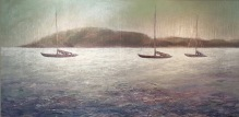 """St. Maarten Afternoon Through Polarized Sunglasses. 18""""X36"""", Oil on Cradled Panel"""
