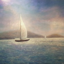 "Catamaran, St. Thomas USVI, 30""X40"", Oil on Cradled Panel"