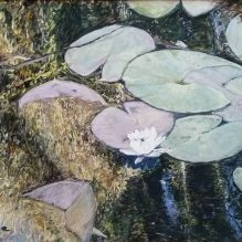 """Floating Waterlilies, Monet's Gardens, Giverny, 18"""" X 24"""""""