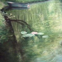 """Deep In The Pond, 28"""" X 20"""""""