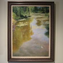 Monet's Gardens in Morning Light, Framed using UV 70 glass