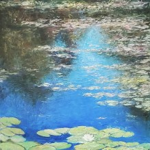 """Waterlilies and Floating Leaves, 20"""" X 16"""""""