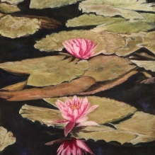 """The Two Lilies, 24"""" x 18"""""""